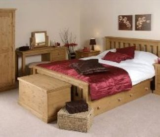 Chunky Solid Pine Bedroom Collection