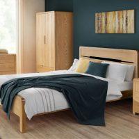 Curve Oak Bedroom Collection